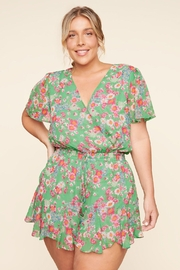 Sugar Lips Floral Romper - Front cropped
