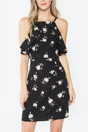 Sugar Lips Floral Ruffle Dress - Front cropped
