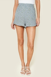 Sugar Lips Floral Ruffle Shorts - Front cropped