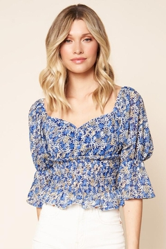 Sugar Lips Floral Smock Top - Product List Image