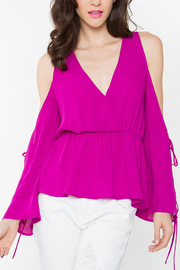 Sugar Lips Flowing Magenta Top - Product Mini Image