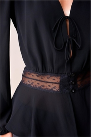 Sugar Lips Gallery Opening Blouse - Back cropped