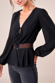 Sugar Lips Gallery Opening Blouse - Front cropped