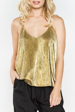 Shoptiques Product: Gold Metallic Top