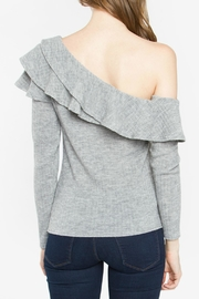 Sugar Lips Grey One Shoulder Top - Front full body