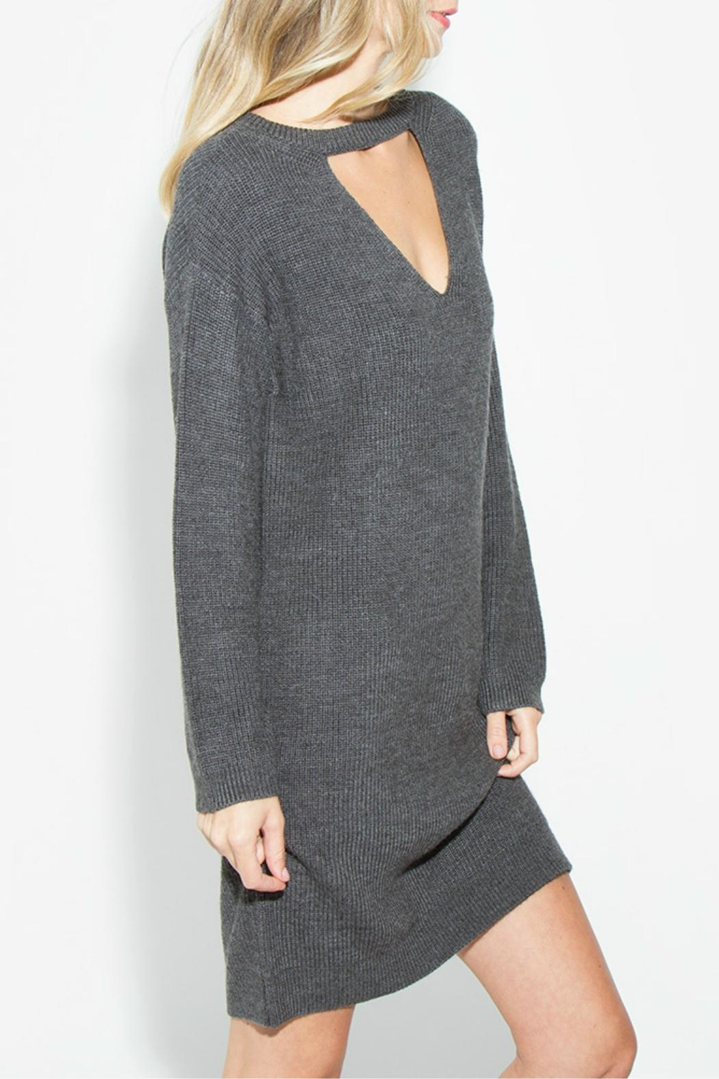 Sugar Lips Grey Sweater Dress - Front Full Image