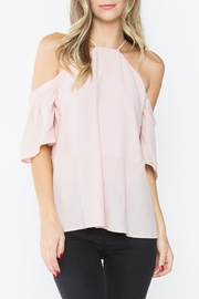 Sugar Lips High-Neck Off-Shoulder Top - Product Mini Image