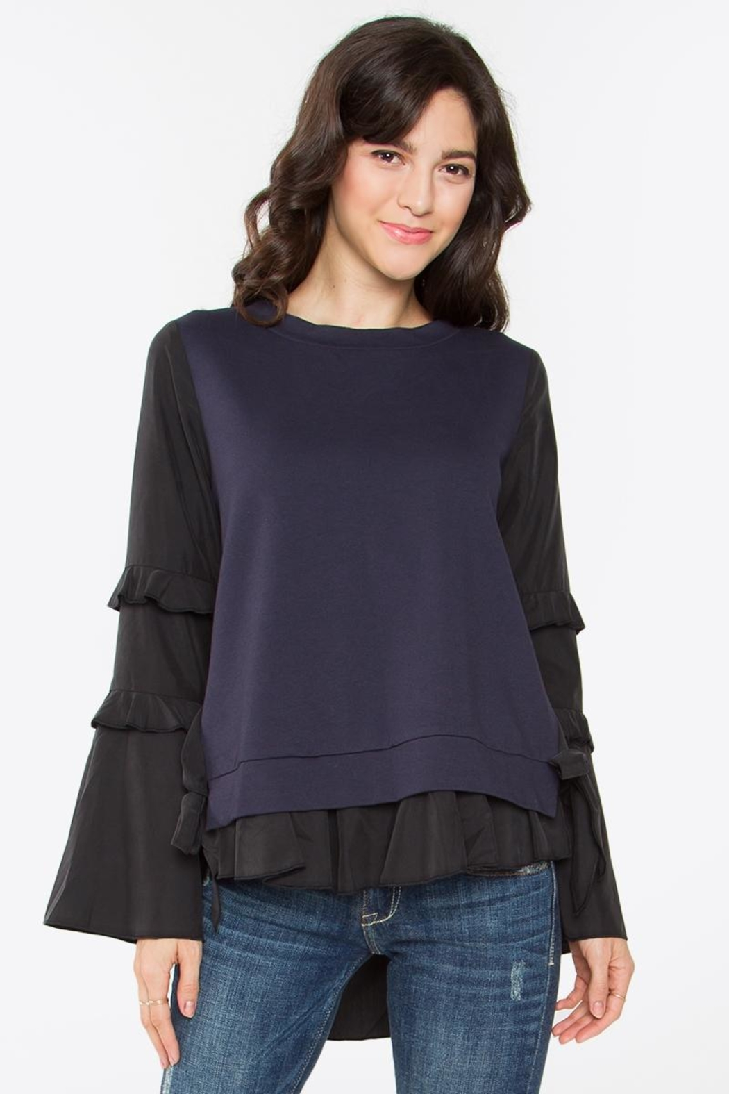Sugar Lips Hoxton Ruffle Top - Front Cropped Image