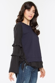 Sugar Lips Hoxton Ruffle Top - Front full body