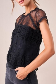 Sugar Lips Icona Lace Top - Front full body