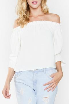 Shoptiques Product: Ivory Off The Shoulder Top