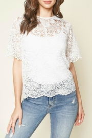 Sugar Lips Joyful Lace Top - Product Mini Image