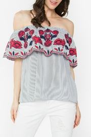 Sugar Lips Julienne Off-The-Shoulder Top - Front cropped