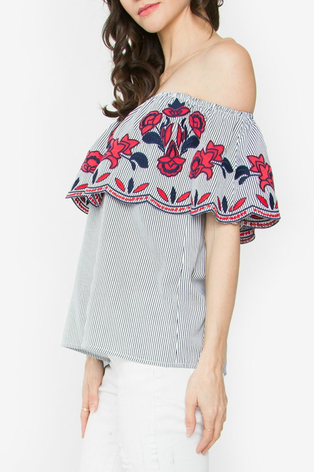Sugar Lips Julienne Off-The-Shoulder Top - Front Full Image