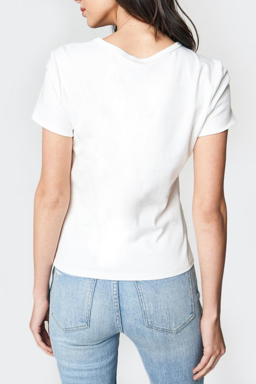 Sugar Lips Knot Tee - Side Cropped Image