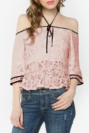 Sugar Lips Lace Peplum Top - Front cropped
