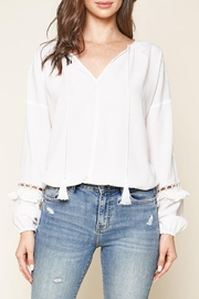 Sugar Lips Lace Trim Blouse - Front full body