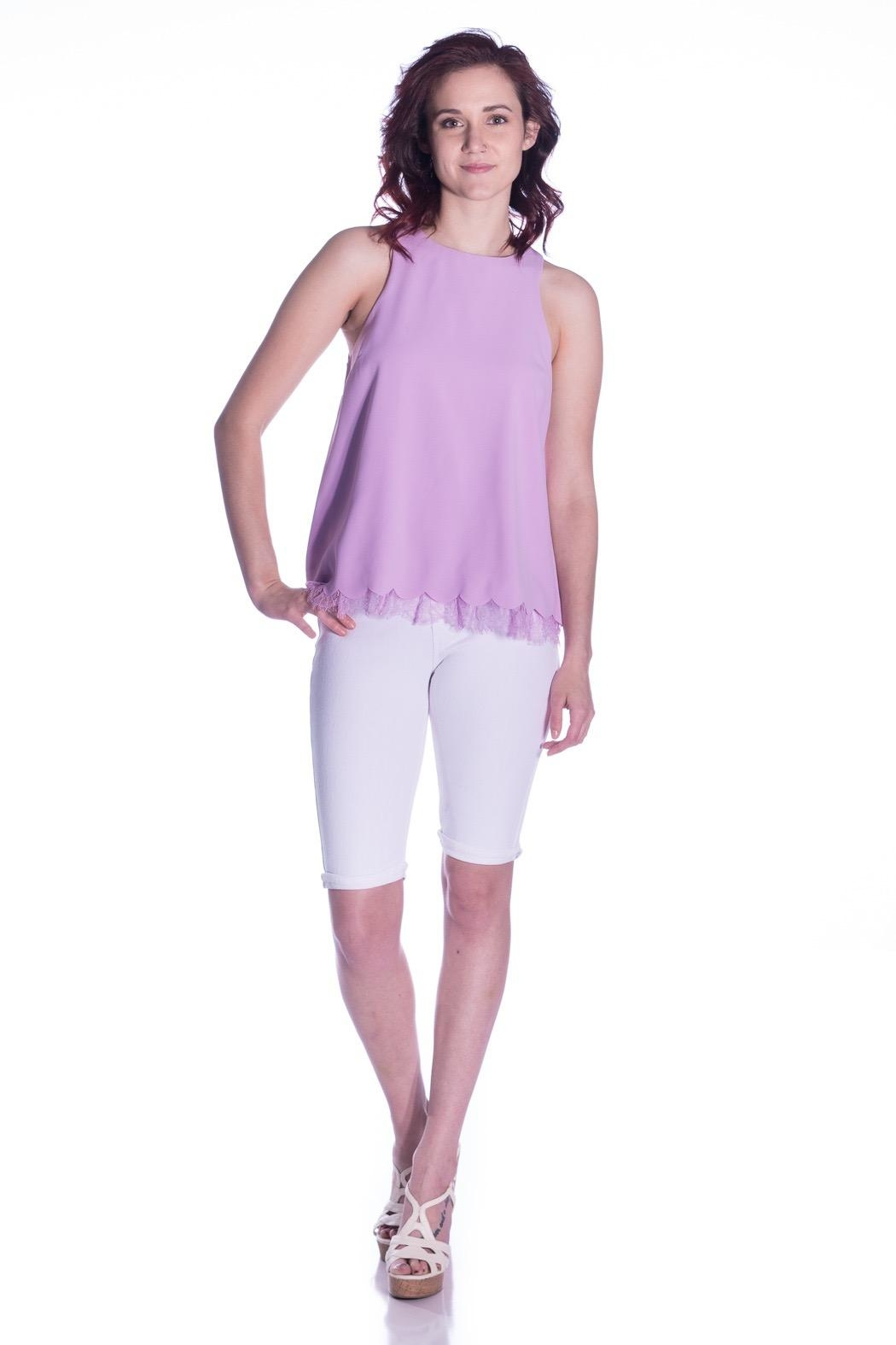Sugar Lips Lace Trim Top - Side Cropped Image