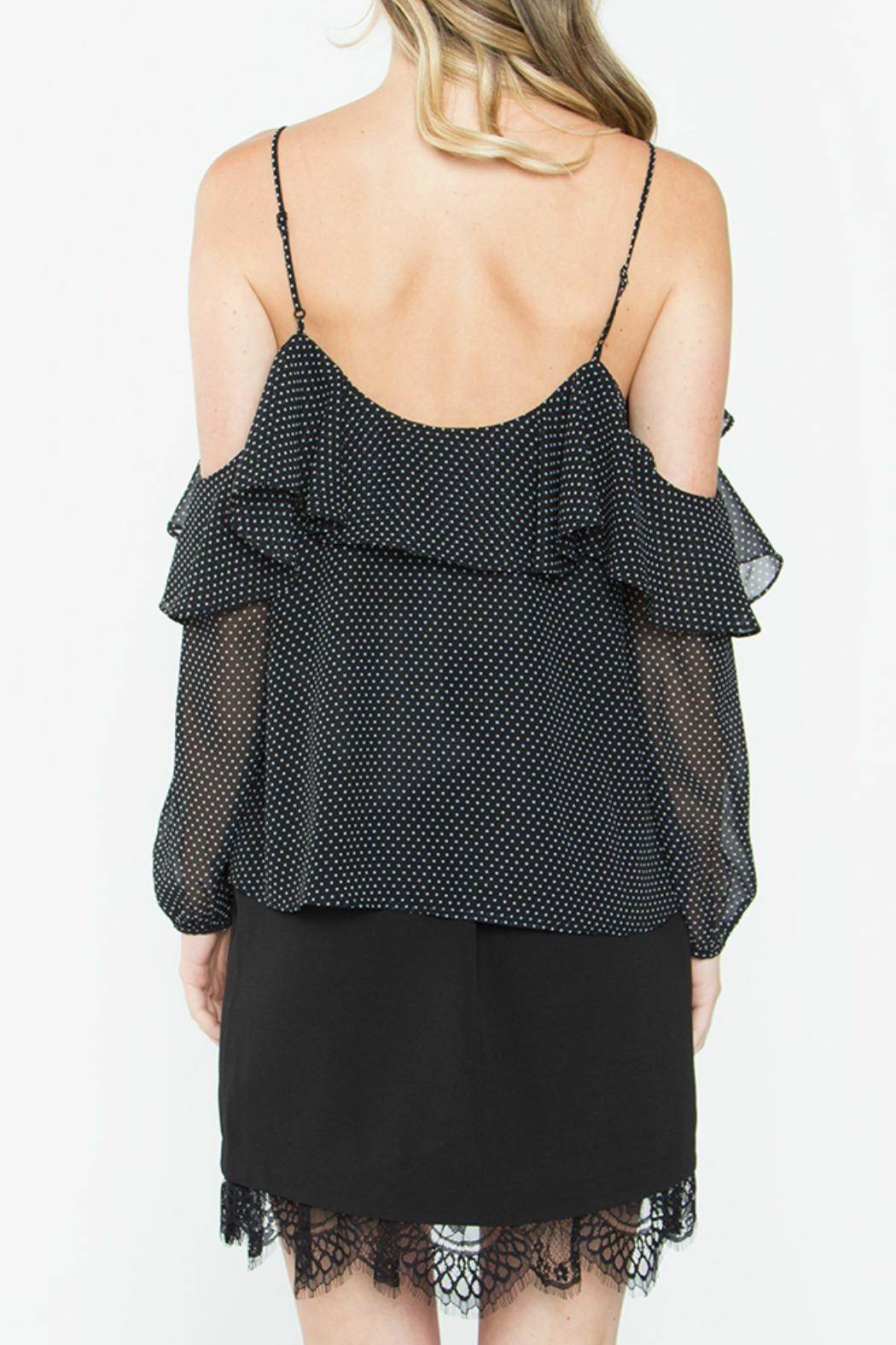 Sugar Lips Leandra Ruffle Top - Back Cropped Image