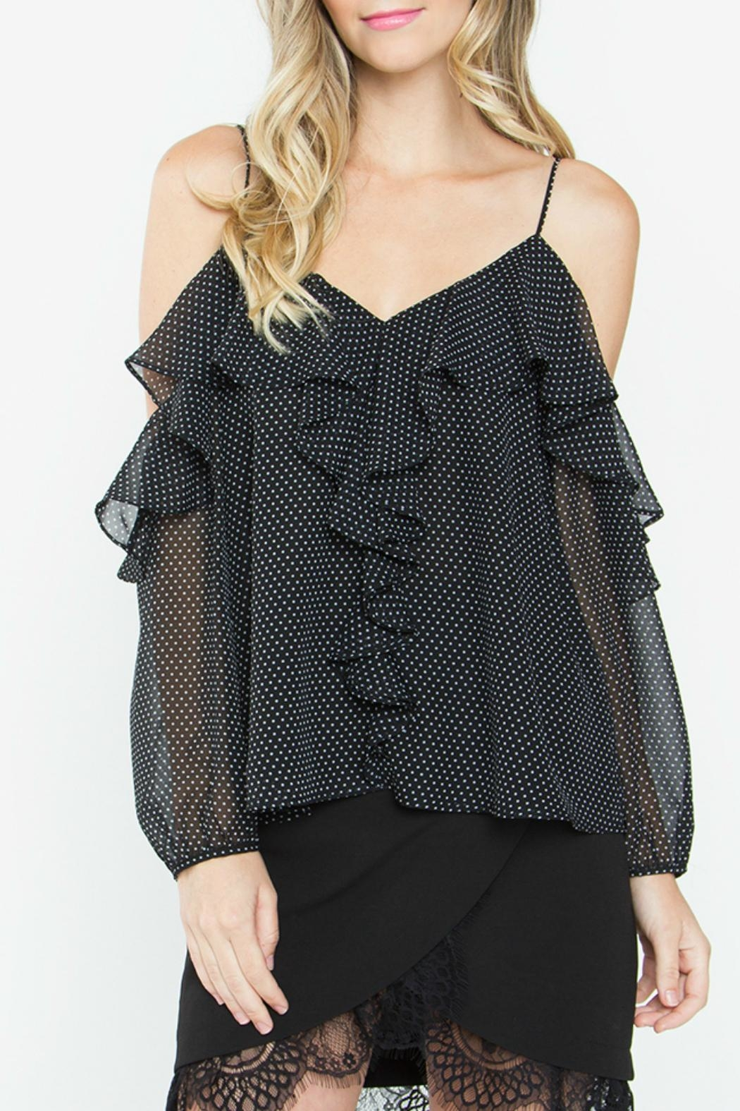 Sugar Lips Leandra Ruffle Top - Front Full Image