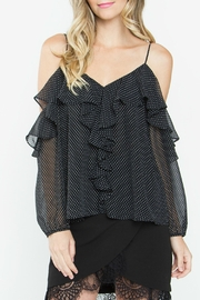 Sugar Lips Leandra Ruffle Top - Front full body