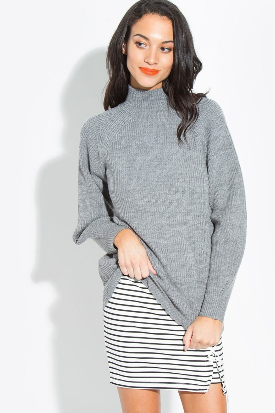 Sugar Lips Long Sleeve Sweater - Front Cropped Image