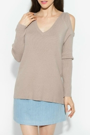Sugar Lips Lune Cold Shoulder Sweater - Product Mini Image