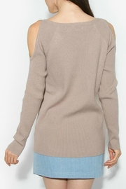 Sugar Lips Lune Cold Shoulder Sweater - Front full body
