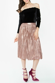 Sugar Lips Minori Pleated Metallic Skirt - Side cropped