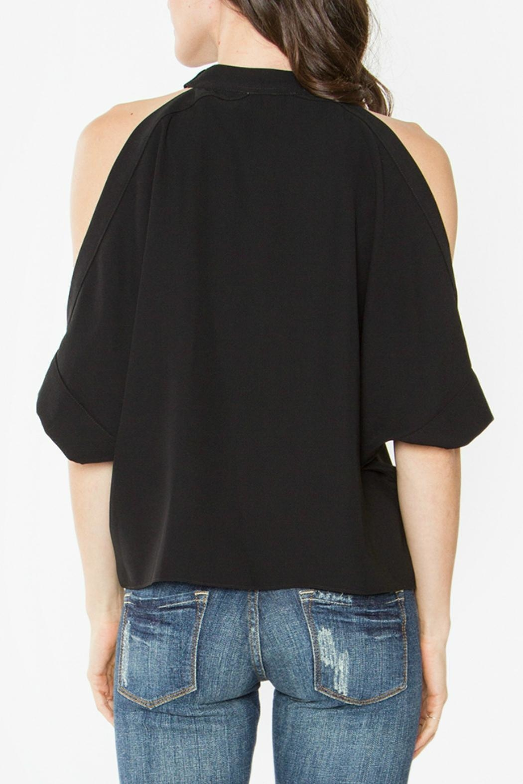 Sugar Lips Mirabel Cold-Shoulder Top - Front Full Image