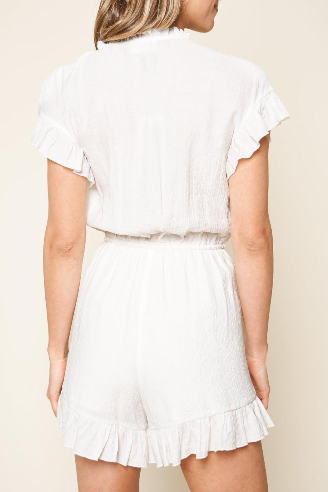 Sugar Lips Oliver Ruffle Romper - Side Cropped Image