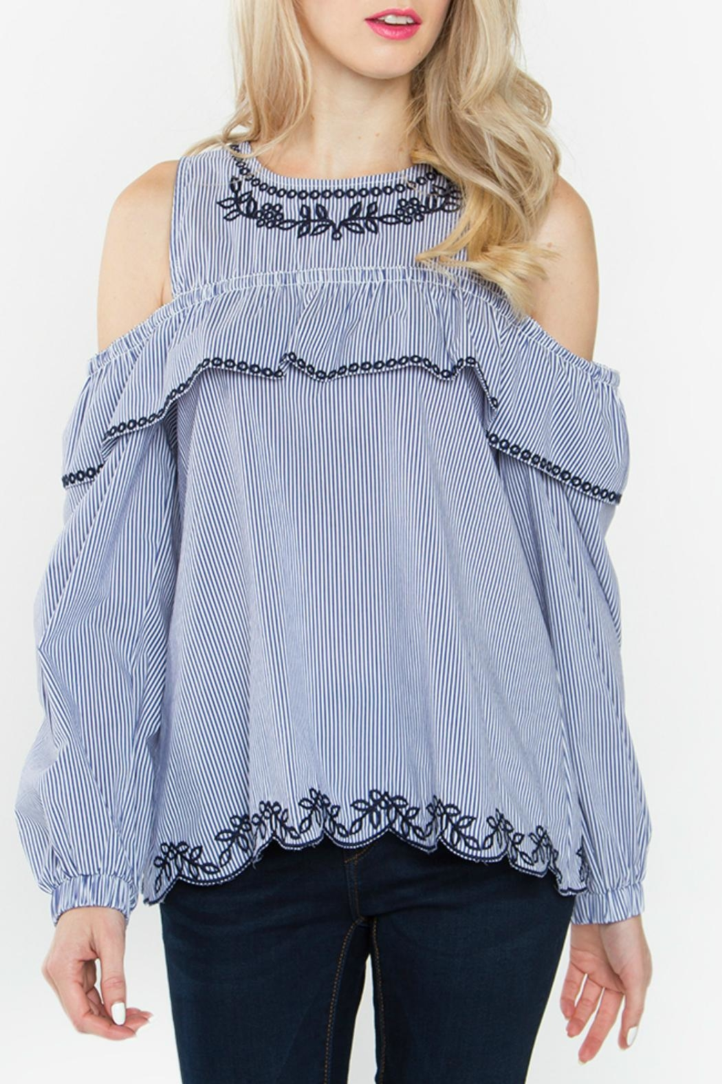 Sugar Lips Parker Cold Shoulder Top - Main Image