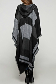 Sugar Lips Plaid Hooded Poncho - Front full body