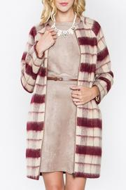 Sugar Lips Plaid Wool Coat - Product Mini Image