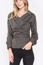 Sugar Lips Plaid Wrap Top - Product Mini Image