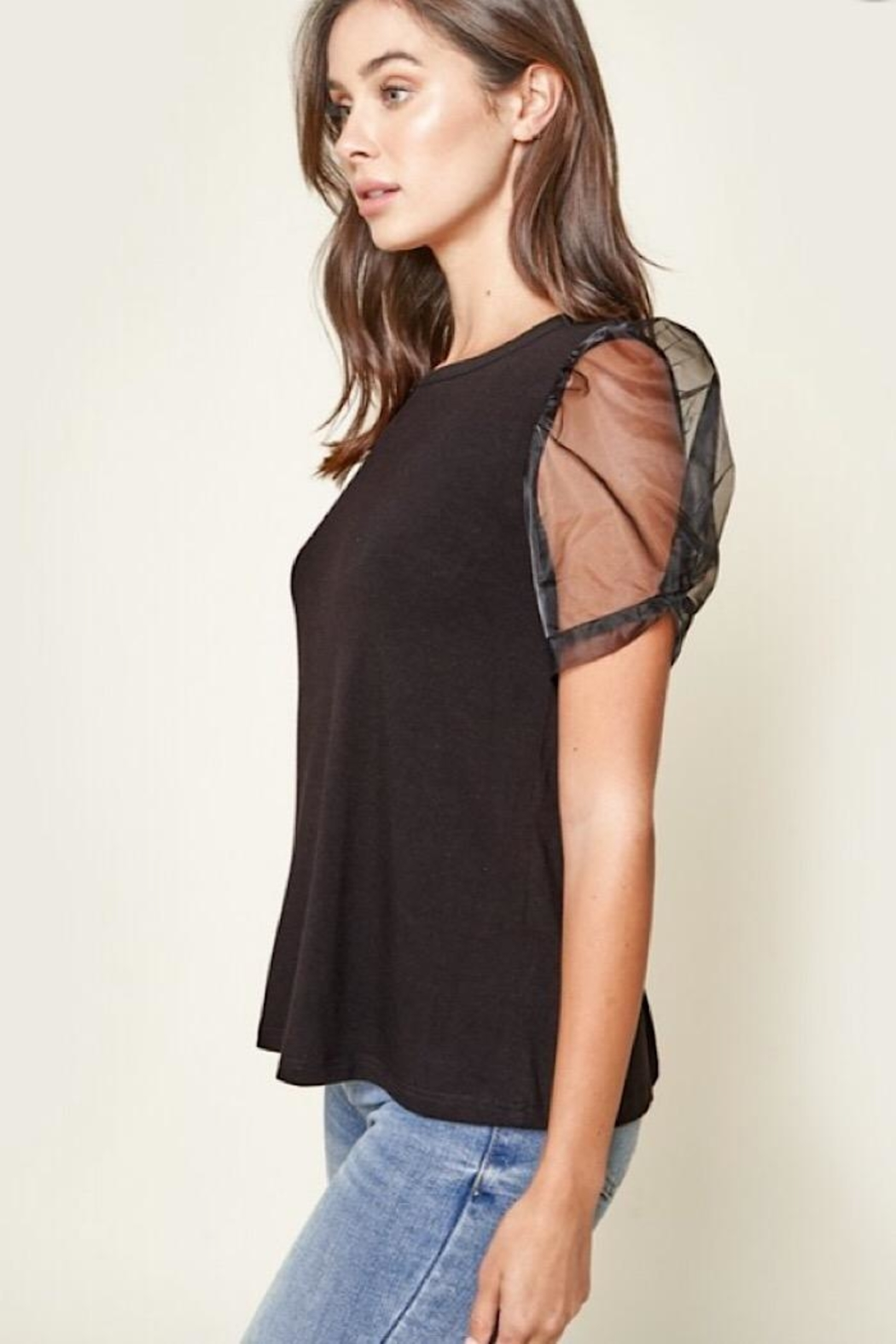 Sugar Lips Puff Sleeve Top - Front Full Image