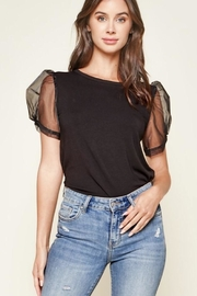 Sugar Lips Puff Sleeve Top - Product Mini Image