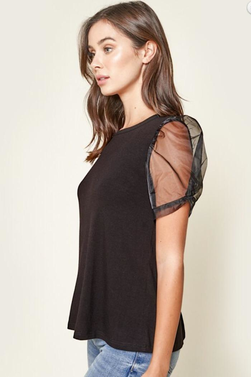 Sugar Lips Puff Sleeve Top - Side Cropped Image