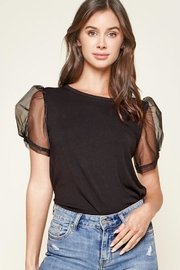 Sugar Lips Puff Sleeve Top - Front cropped