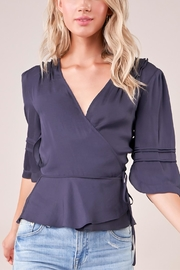 Sugar Lips Query Pleated Wrap Top - Product Mini Image