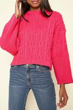 Sugar Lips Quincy Cable Knit Sweater - Product List Image