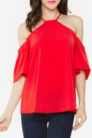 Sugar Lips Red Cold-Shoulder Top - Product Mini Image