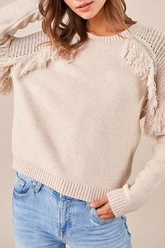 Sugar Lips Reef Fringe Sweater - Product List Image