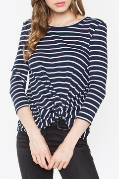 Sugar Lips Round-Neck Twist-Hem Top - Product List Image