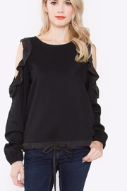Sugar Lips Ruffle Cold Shoulder Top - Product Mini Image