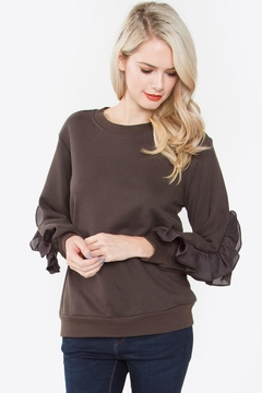 Shoptiques Product: Ruffle Elbow Sweater