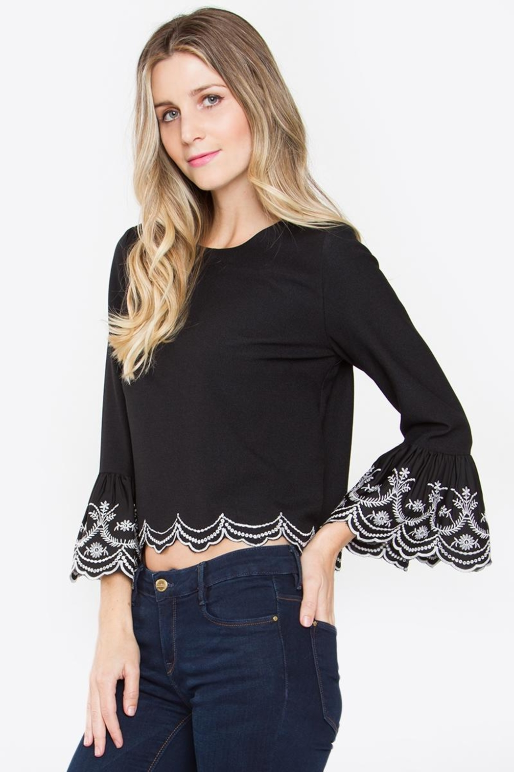 Sugar Lips Ruffle Top - Front Full Image