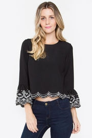 Sugar Lips Ruffle Top - Front cropped