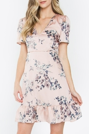 Sugar Lips Satin Floral Dress - Product Mini Image