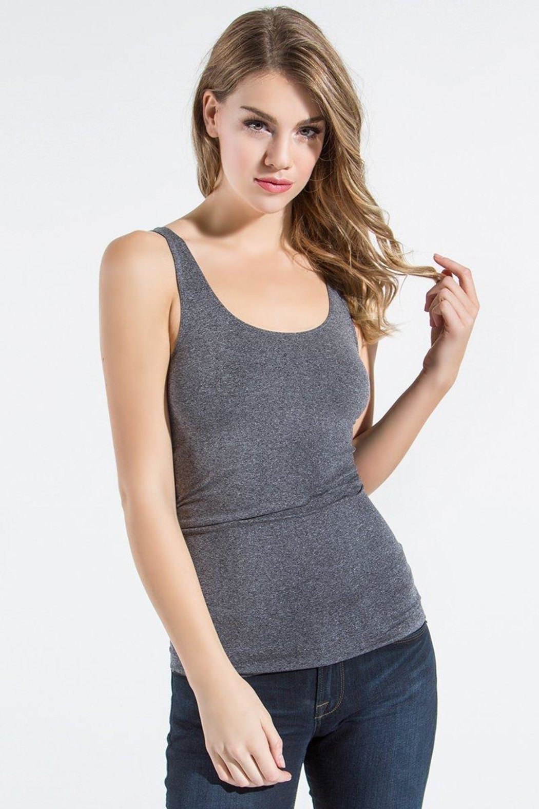 Sugar Lips Scoop Neck Tank - Front Cropped Image
